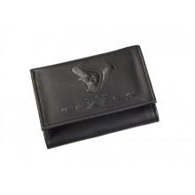 Houston Texans Black Leather Tri-Fold Wallet