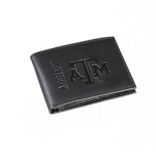 Texas A&M Aggies Black Leather Bi-Fold Wallet