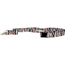NCAA Texas A&M Zebra Print Breakaway Lanyard Key Chain