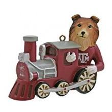 Texas A & M Mascot Train Ornament