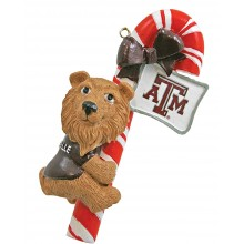 Texas A&M  Candy Cane Ornament