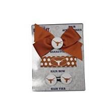 Texas Longhorns 3 Piece Hair Accessories