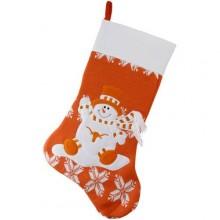 "Texas Longhorns  22"" Snowflake Christmas Stocking"