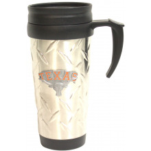 NCAA Texas Longhorns 15 oz Stainless Steel Pewter Logo Travel Cup