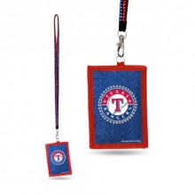 MLB Texas Rangers Beaded Lanyard I.D. Wallet