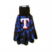 MLB Texas Rangers Team Color Camo Utility Gloves