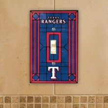 Texas Rangers Art Glass Single Switch Plate Cover