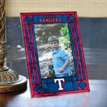 Texas Rangers Vertical Art Glass Photo Frame