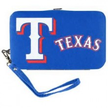 MLB Texas Rangers Distressed Wallet Wristlet Case