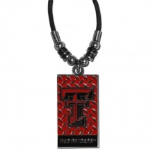 Texas Tech Red Raiders Diamond Plate Rope Necklace, 20-Inch
