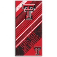 """Texas Tech Red Raiders 28"""" x 58"""" Striped Logo  Beach Towel"""