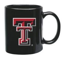 Texas Tech Red Raiders 15 oz Black Ceramic Coffee Cup