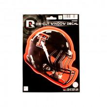 """Texas Tech Red Raiders 6"""" Helmet Die-Cut Window Decal"""