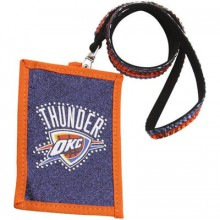 OKC Thunder Beaded Lanyard I.D. Wallet