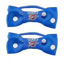 OKC Thunder Bow Pigtail Holders