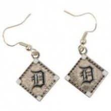 Detroit Tigers Diamond Shaped Dangle Earrings
