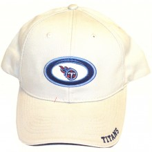 Tennessee Titans Beige with Football Logo Embroidered Headwear