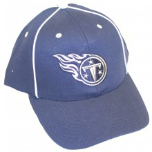 Tennessee Titans Piped Navy Adjustable Hat