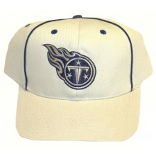 Tennessee Titans Piped Tan Adjustable Hat