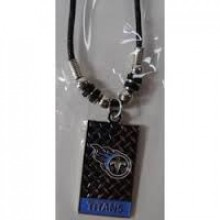 Tennessee Titans Diamond Plate Rope Necklace, 20-Inch
