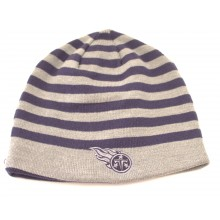 Tennessee Titans Striped Reversible Beanie