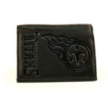 Tennessee Titans Black Leather Tri Fold Wallet