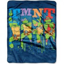 Teenage Mutant Ninja Turtles City Lights Silky Soft Fleece Throw