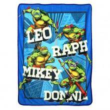 Teenage Mutant Ninja Turtles Flash Fire Blue Super Plush Fleece Throw