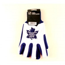 """Toronto Maple Leafs 2014 Winter Classic """"The Big House"""" Utility Gloves"""