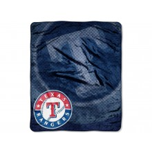 Texas Rangers 50 x 60 inches Royal Plush Raschel Throw