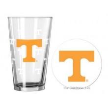 Tennessee Volunteers Pint and Coaster Set