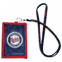 Minnesota Twins Beaded Lanyard I.D. Wallet