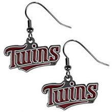 Minnesota Twins Logo Dangle Earrings