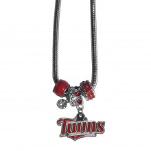 Minnesota Twins Euro Bead Charm Necklace