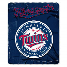"Minnesota Twins 50"" x 60"" Lightning Fleece Throw Blanket"