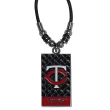 Minnesota Twins Diamond Plate Rope Necklace, 20-Inch