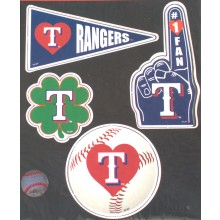 Texas Rangers 4 Piece Team Magnet Set