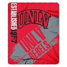 UNLV Rebels Established Fleece Throw Blanket