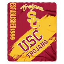 USC Trojans Established Painted Fleece Throw