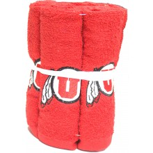 Utah Utes 6 Pack Washcloth Set