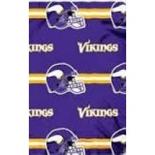 "Minnesota Vikings  50"" x 60"" 3 Bar Fleece Throw Blanket"