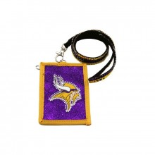 Minnesota Vikings Beaded Lanyard I.D. Wallet