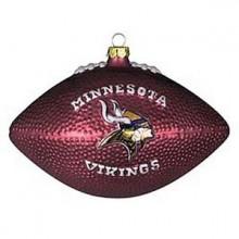 Minnesota Vikings Blown Glass Football Ornament