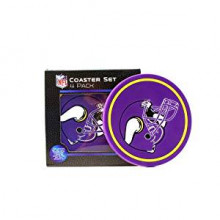 Minnesota Vikings 4 pack Flexible Coaster Set