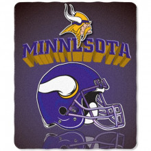 "Minnesota Vikings  50"" x 60"" Gridiron Fleece Throw Blanket"