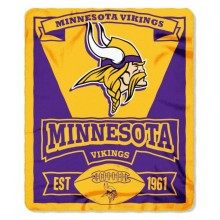 "Minnesota Vikings  50"" x 60"" Marque Fleece Throw Blanket"