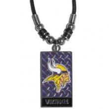 Minnesota Vikings Diamond Plate Rope Necklace, 20-Inch