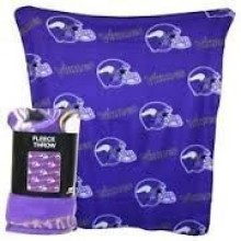 "Minnesota Vikings 50"" x 60"" 3 Bar Repeating Pattern Fleece Throw Blanket"