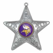 "Minnesota Vikings 4"" Silver Star Ornament"