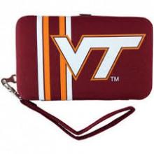 """Virginia Tech Hoakies Distressed Wallet Wristlet Case (3.5"""" X .5"""" X 6"""")"""